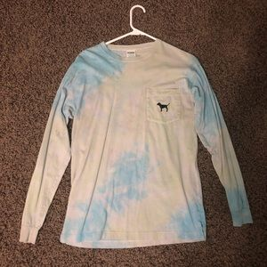 PINK, VICTORIA SECRET tie dye long sleeve